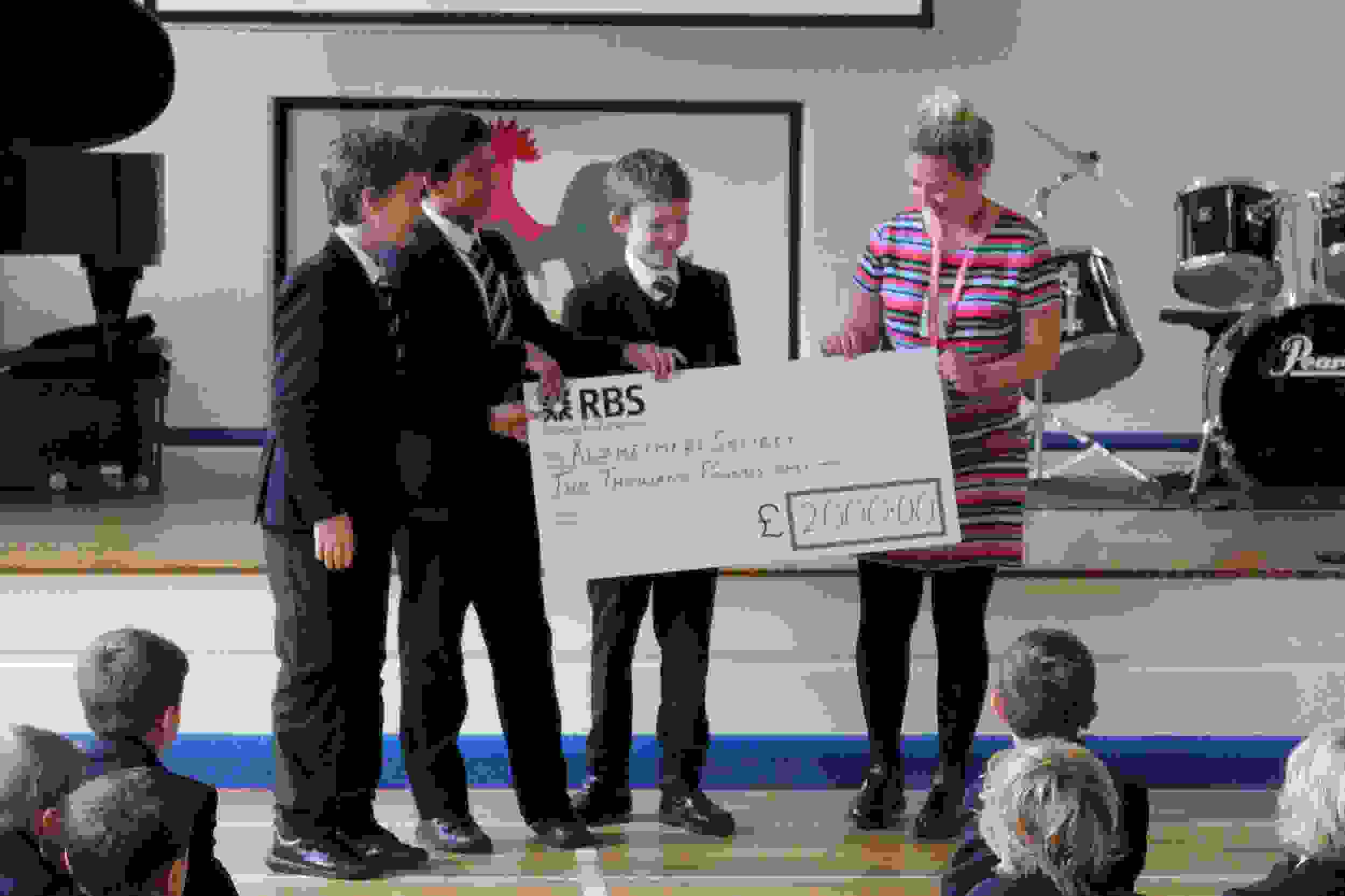 Alzheimer's Society Fun Run cheque presentation (1)
