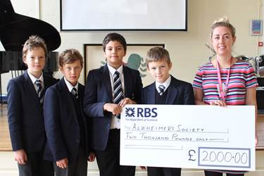 Alzheimer's Society Fun Run cheque presentation (2)