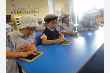 Victorian School Days slate writing