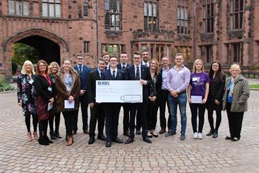 Charity Walk group cheque presentation