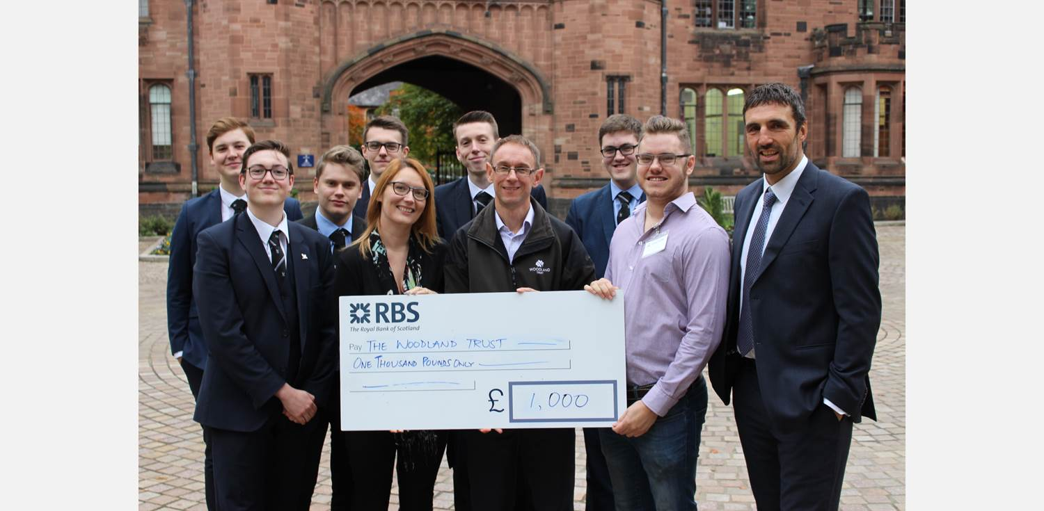 Charity Walk Woodland Trust cheque presentation