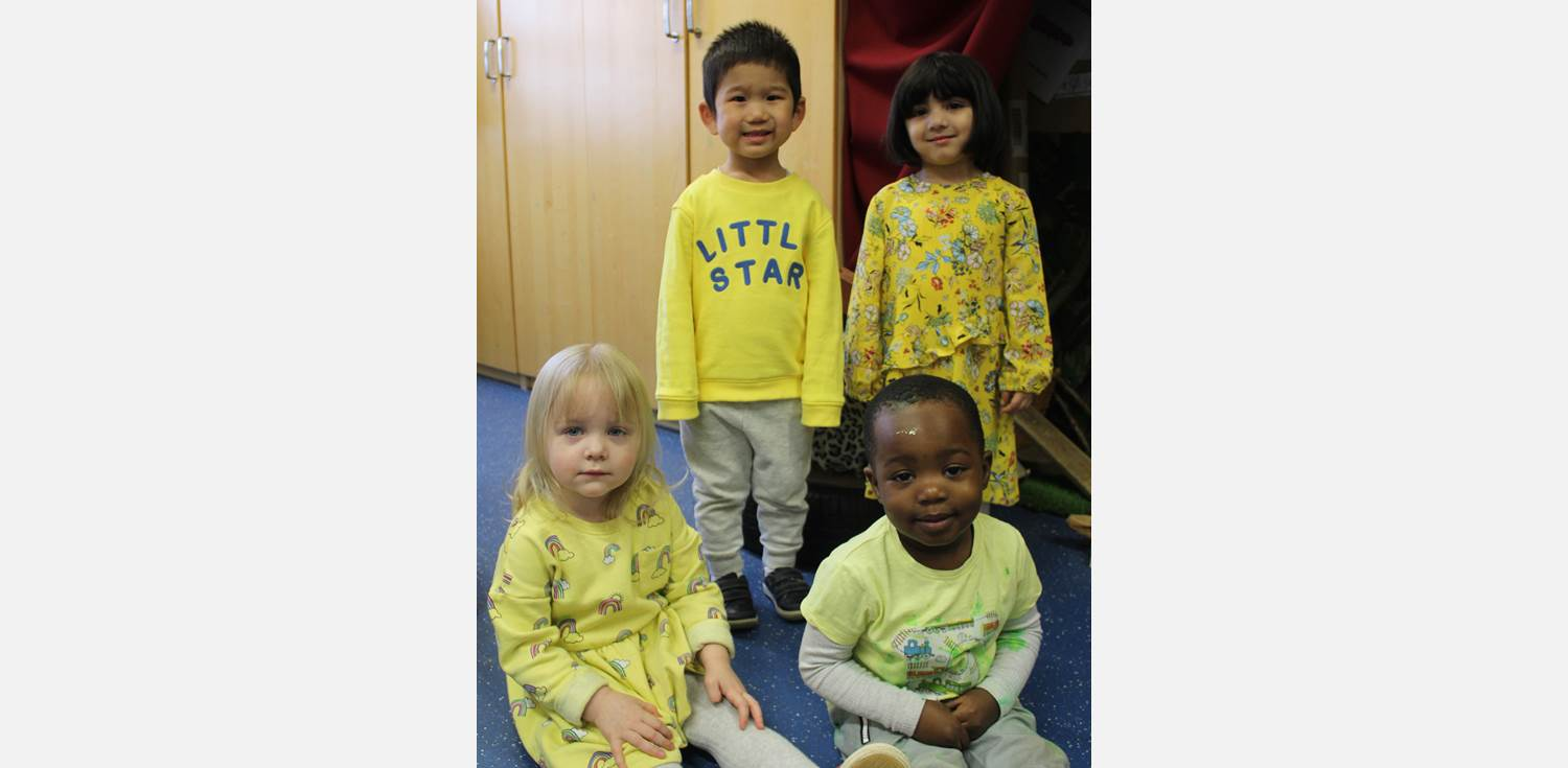 St David's Day 2019 - Children wearing yellow