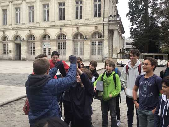 French exchange learning about gothic cathedrals in Bourges.jpg