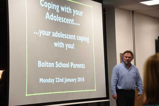 Coping With Your Adolescent talk by Dick Moore, which was part of the Teenage Journey series of talks