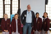 Chris Riddell - with Jr Girls