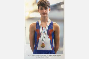 Will Fothergill is the national trampolining champion