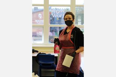 Bolton School Cleaner in Covid Times