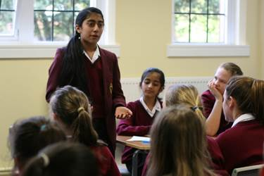 Short debates at the end of the day allowed all pupils to practise the techniques learned