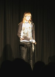 Hannah Mitchell got plenty of laughs with her reading of The Goldfish