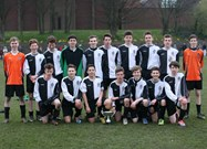 The U15s celebrate victory in the Town Cup Final