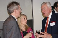 Sir Malcolm chats with guests